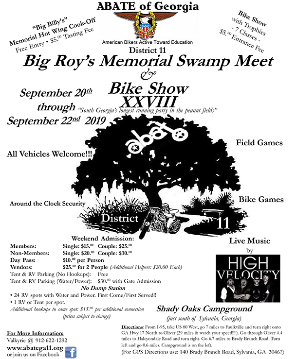 Big Roy's Swamp Meet @ Shady Oaks Campground | Georgia | United States