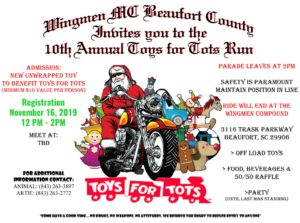 Beaufort County Wingmen Toys for Tots @ TBD
