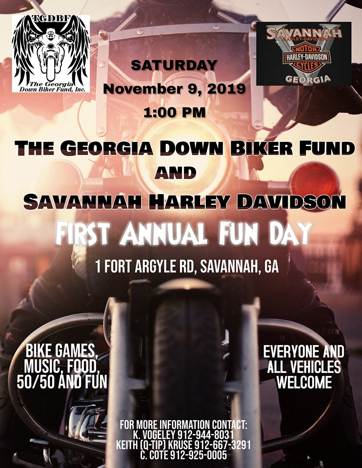 Georgia Down Biker Fund/Savannah Harley-Davidson 1st Annual Fun Day @ Savannah Harley-Davidson | Savannah | Georgia | United States